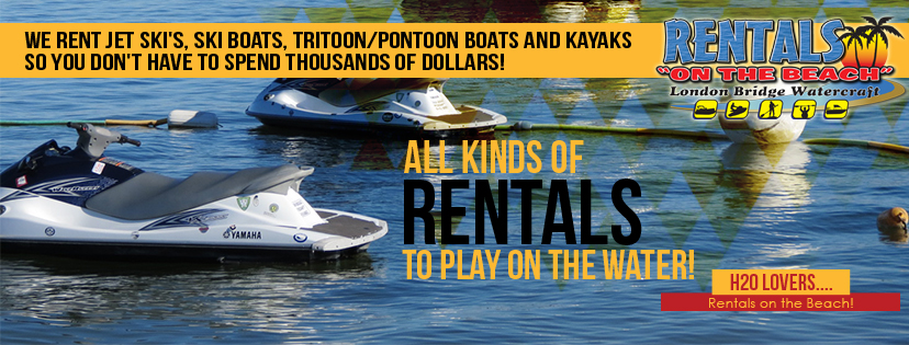 All kinds of rentals to play on the water!